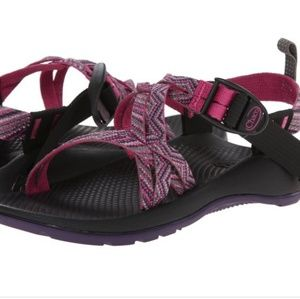 Chaco kids ZX1 EcoTread faded pink sandals